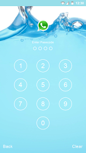 Blue Water Applock theme screenshot 3