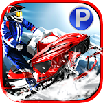 3D Snowmobile Parking & Racing Icon