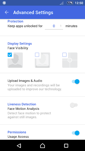 how to use face recognition on google