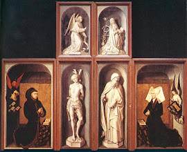 Photo: The Last Judgement Polyptych, reverse side, 1446-52