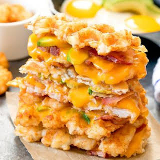 Tater Tot Waffle Grilled Cheese.