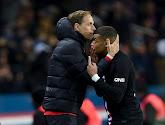 Kylian Mbappé wuift Thomas Tuchel uit bij PSG