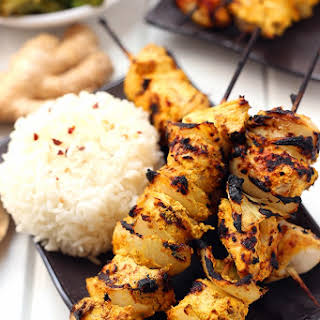 Tandoori Chicken Kebabs.