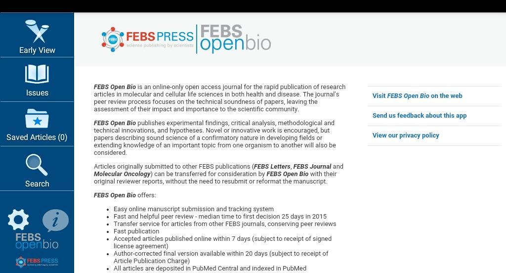 FEBS Open Bio- screenshot