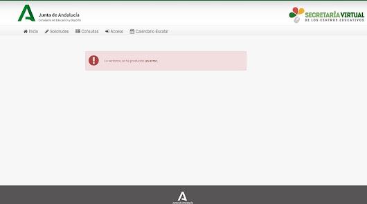 Problemas para realizar la matrícula escolar a través de la web de la Junta