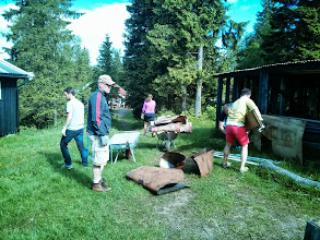 Photo: Oslo, Norway - Googlers went into the forest to restore an old cabin for the Norwegian Tourist Organisation (DNT). They used the day to paint, clean, cut grass and of course have fun. The cabin is now ready to open up for kids and families wanting to be close to the nature.