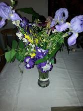 Photo: autre bouquet champêtre avec iris