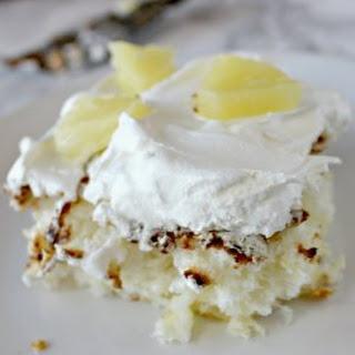 2 Ingredients Pineapple Angel Food Cake.