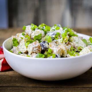 Greek Yogurt Potato Salad with Parsley and Dill