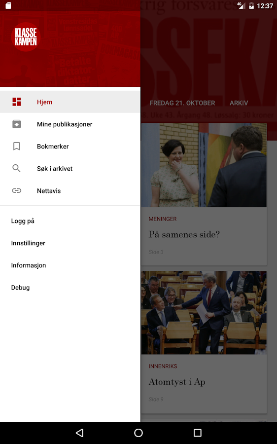 Klassekampen- screenshot