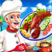 Crazy Kitchen Seafood Restaurant Chef Cooking Game
