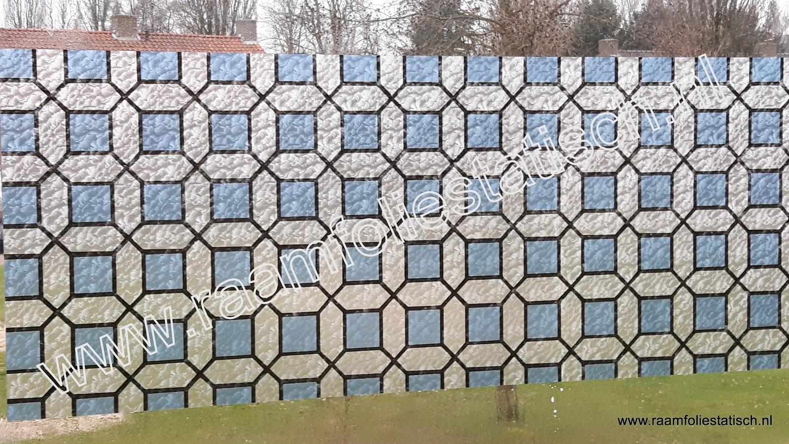 Raamfolie blok kleuren blauw
