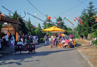 Photo: Zabawa na ulicy Drávacsehi - poświęcenie Székely-kapu