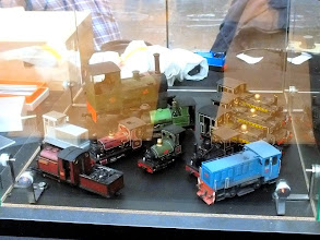Photo: 016 A splendid display of locomotives by James Hilton and Tim Ellis that was featured on the Narrow Planet stand .