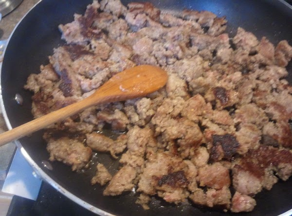 Into a large skillet and cook till completely browned. Remove sausage from skillet with...