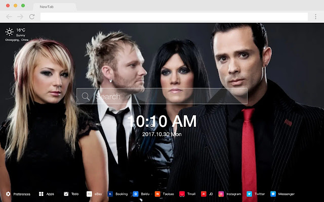 Skillet New Tab Page Popular Band HD Themes
