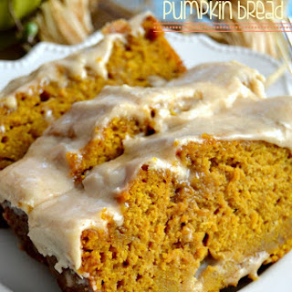 The BEST Pumpkin Bread with Brown Butter Maple Icing.