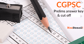 CGPSC Prelims Answer key 2020 | Question Papers