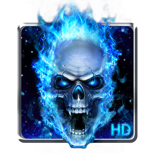 Blue Fire Skull Live Wallpaper Apps On Google Play