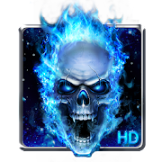 App Blue Fire Skull Live Wallpaper APK for Windows Phone
