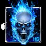Blue Fire Skull Live Wallpaper Icon