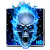 Blue Fire Skull Live Wallpaper file APK for Gaming PC/PS3/PS4 Smart TV