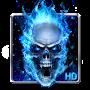 Blue Fire Skull Live Wallpaper file APK Free for PC, smart TV Download