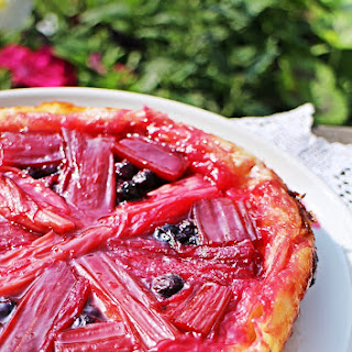 Rhubarb & Blueberry Tarte Tatin