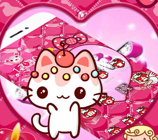 Pink Kitty Lovely Princess Theme for PC