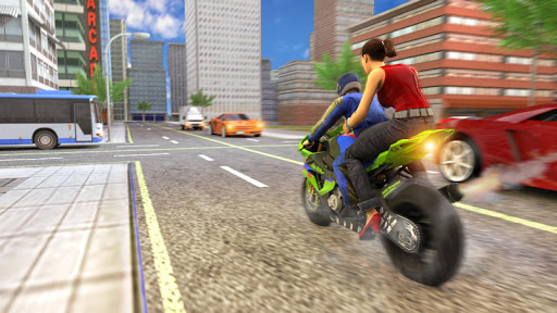 Real Flying Bike Taxi Simulator: Bike Driving Game apkmr screenshots 9