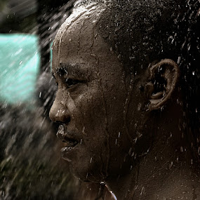 Bath anyone? by Rodel Cabantac - People Portraits of Men ( art, shower, candid, rodel cabantac, award winning pix )