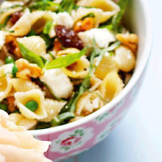 Pasta Salad with Feta and Peas