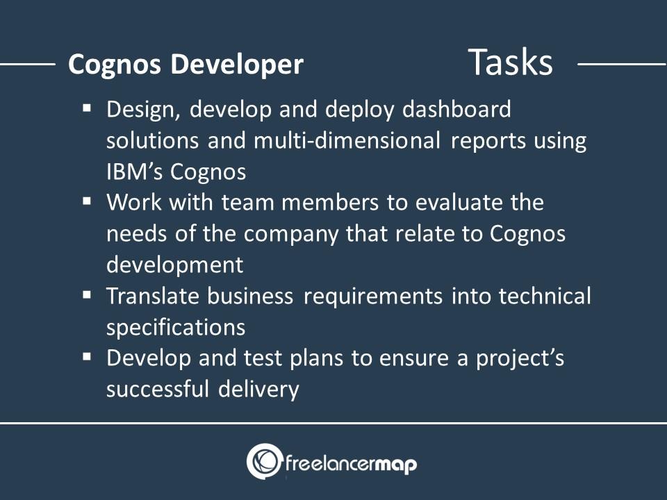 Responsibilities of a Cognos Developer