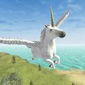 Flying Unicorn Simulator Free icon