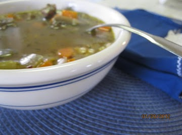 Savory Mushroom Beef Barley Soup Recipe