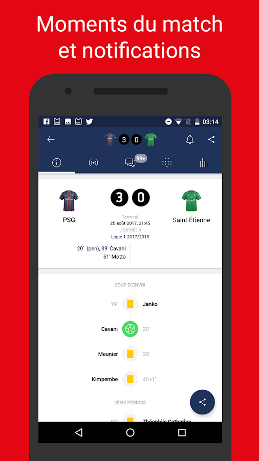 Paris Live – non officiel app sur le PSG FC- screenshot