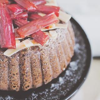 Coconut Cake with Rhubarb.
