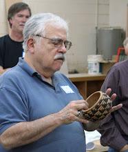 "Photo: Stuart Glickman - ""basket illusion"" - burned and dyed cherry"