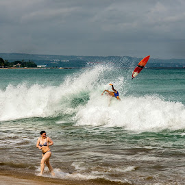 Fall down by Bobo Tandiono - Sports & Fitness Surfing ( beaches. people. board surfing )