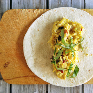 Prep-Ahead Breakfast Burritos with Mushrooms, Bacon, and Goat Cheese