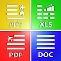 All Document Reader: PDF, PPT, RTF, DOC, ODF, XLSX icon