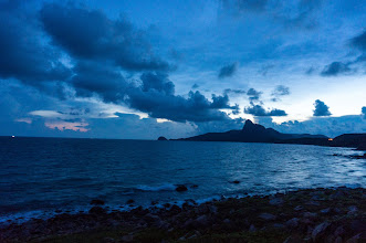 """Photo: """"Love peak"""", around 7 PM"""