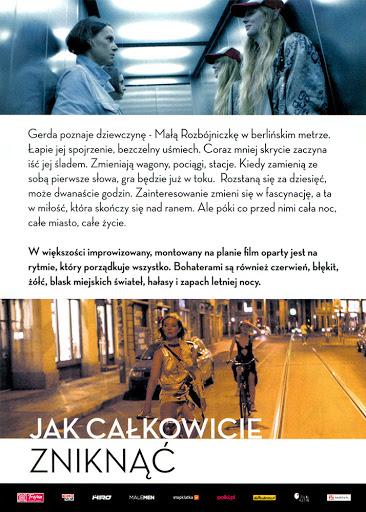 Tył ulotki filmu 'Jak Całkowicie Zniknąć'