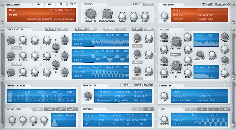 Photo: ElectraX synthesizer (white skin)