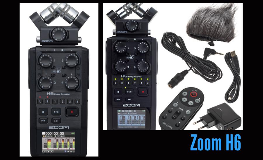 Zoom H6 Digital Podcast Recorder