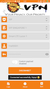 Fist VPN - náhled