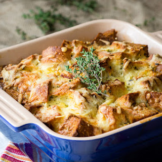 Savory Bread Pudding - Ham and Cheese Classic.