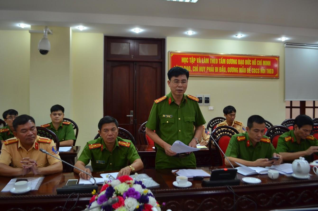 Đại tá Nguyễn Văn Bình, Phó Giám đốc Công an tỉnh Đắk Lắk phát biểu
