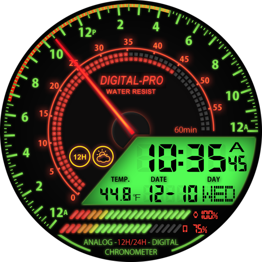 V04 WatchFace for Android Wear- screenshot