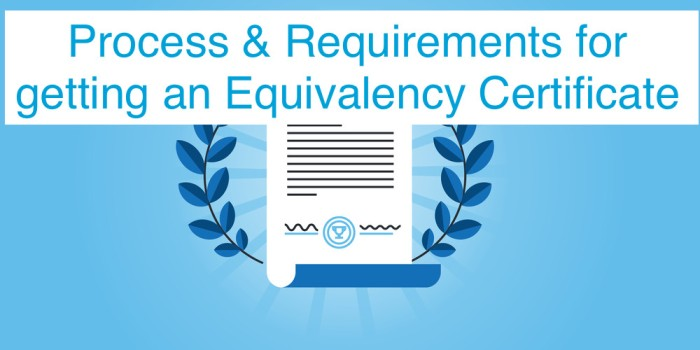 How to get an equivalency certificate